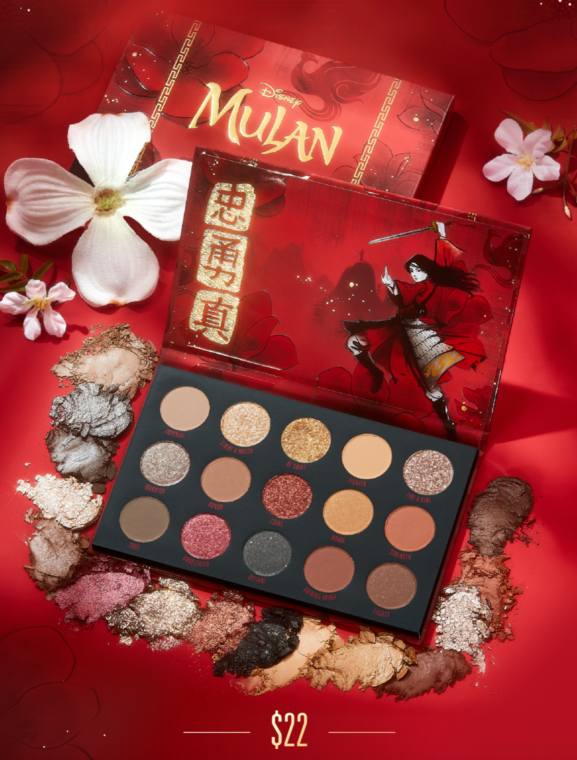 This Disney and ColourPop Mulan Makeup Collection is a