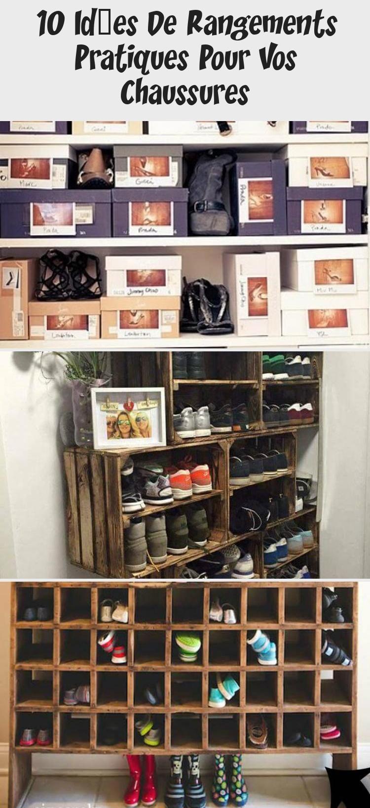 10 Idées De Rangements Pratiques Pour Vos Chaussures - Décoration in 2020 | Shoe rack, Wine rack ...
