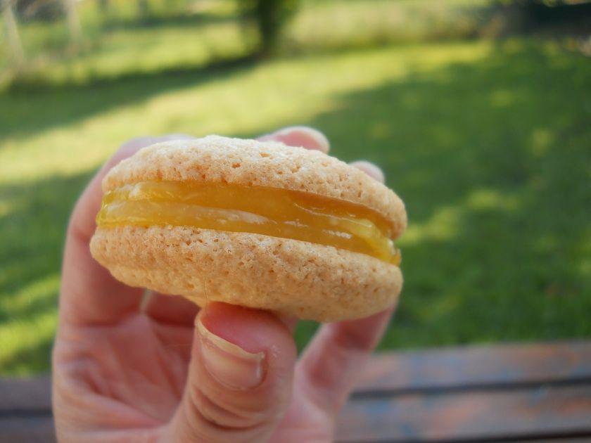 Macarons au citron :)   http://eatmenooow.wordpress.com/2014/07/28/macarons-au-citron/