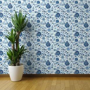 Blue Peel Stick Wallpaper You Ll Love In 2020 Wayfair Wallpaper Panels Wallpaper Blue Floral Wallpaper