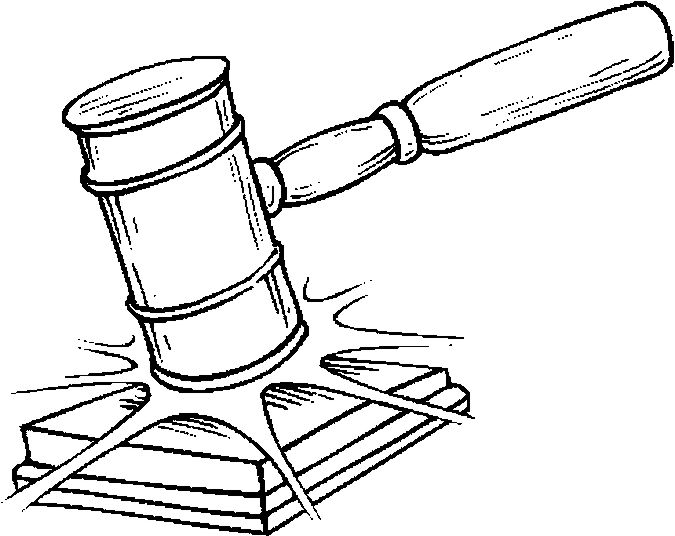 Judge And Gavel Coloring Page Lawyer Office Decor Clipart Black And White Fancy Dress Costumes Kids