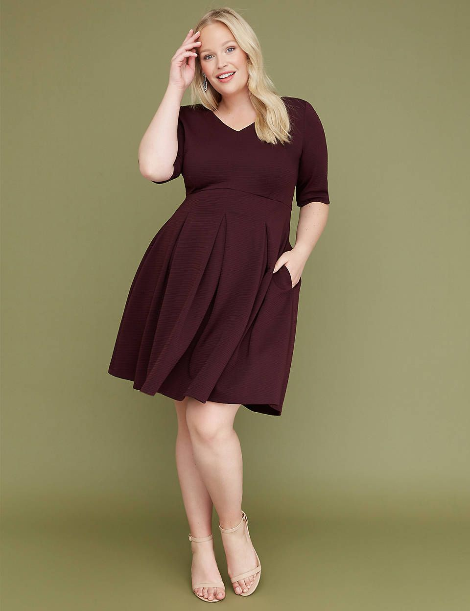 fit and flare dress plus size