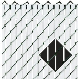 Pexco 6 In X 4 Ft 10 In Black Chain Link Fence Privacy