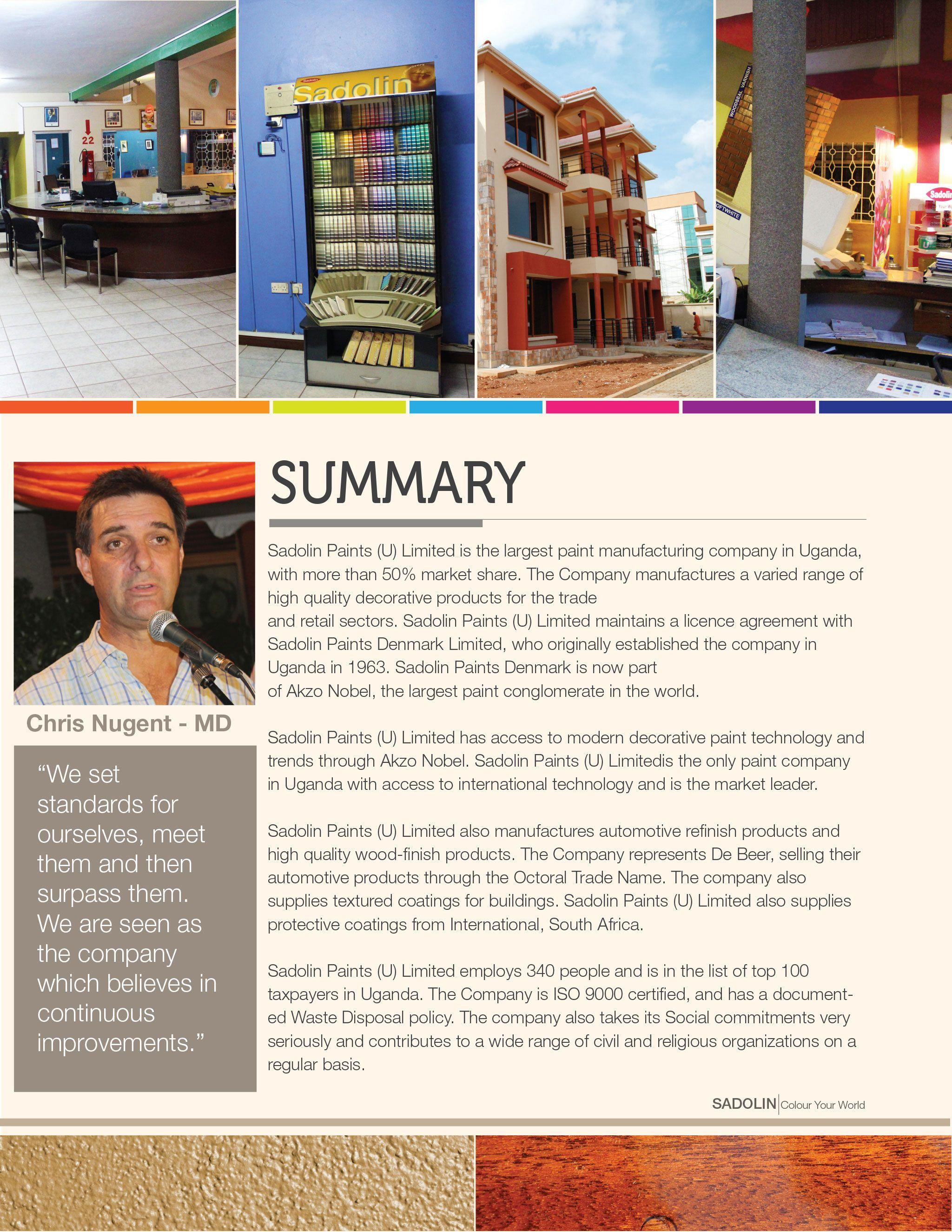 Sadolin Paints Uganda Company Profile Company profile