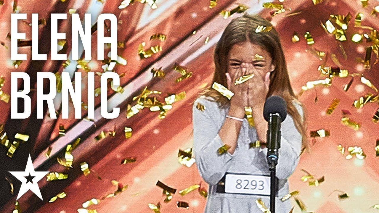 Elena Brnic Wins Second Golden Buzzer Supertalent 2018 Auditions