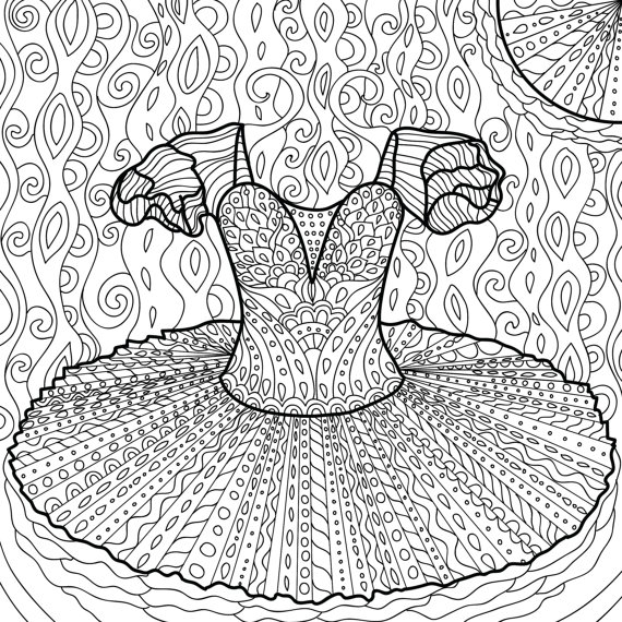 Printable Coloring Page Zentangle Dance Coloring Book | Pinterest ...