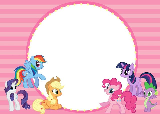 Download Free Printable My Little Pony Baby Shower Invitation Idea