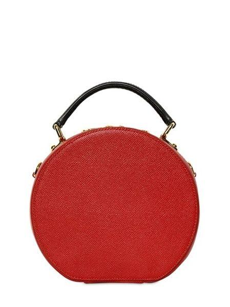8f2c4e021b2 Women's Red Medium Miss Anna Saffiano Top Handle Bag   Dolce&Gabbana ...