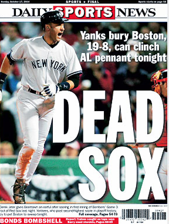 Headline After Game 3 When The Yankees Were Up Three On