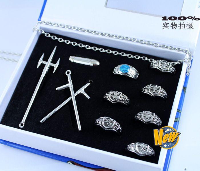 magasiner pour les plus récents beau look 100% authentique Katekyo Hitman Reborn tuteur Vongola 7 anneaux et Bullet ...