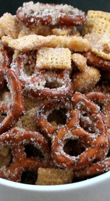 Photo of Sweet Salty Cinnamony Pretzel Snack Mix – Chocolate Chocolate and More!