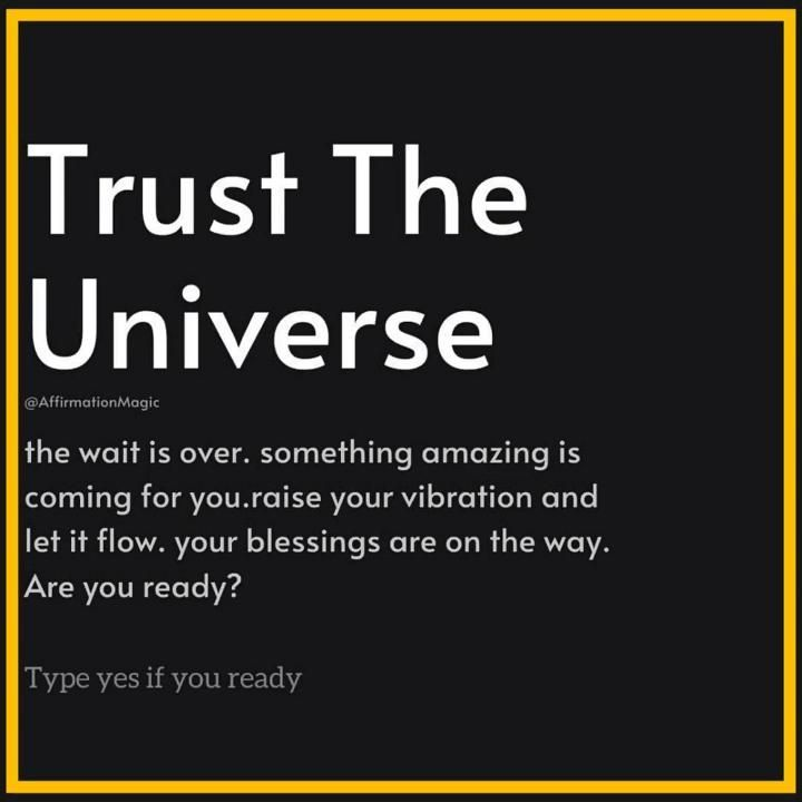 The Universe has Something for YOU . [You will be surprised]😲👇
