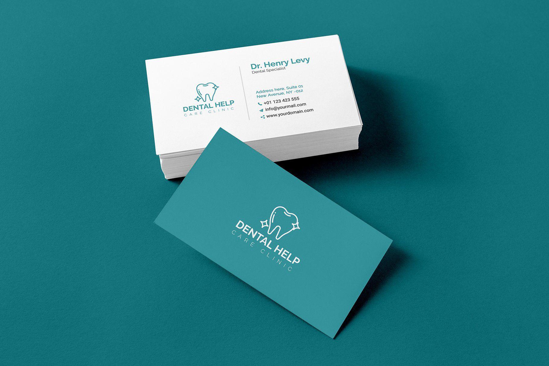 Dentist Business Card Templates Psychologist Business Card Minimal Business Card Psychotherapist Business Card
