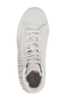 Sneakers Alte in Nabuk<BR> Grigio Chiaro
