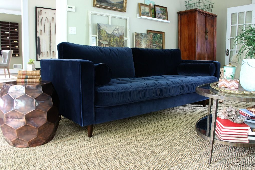 Blue Is A Neutral New Blue Sofa Velvet Couch Living Room Blue Velvet Sofa Blue Velvet Couch