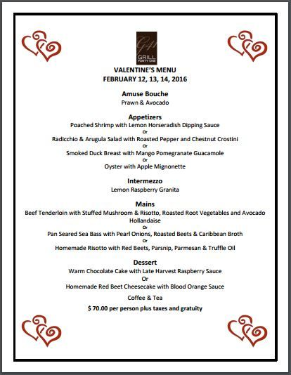 Grill 41 Is Ready For Valentines Day Are You Ottawa Eats