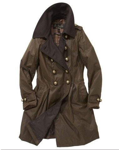 Womens Barbour Fusilier Waxed Jacket, military inspired coat. Got three  different Barbour coats -