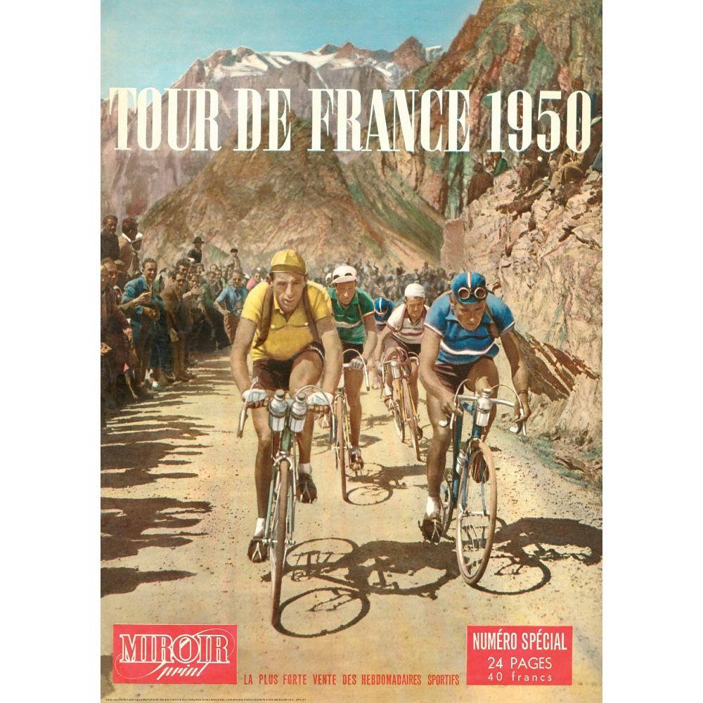 Tour de France 1950 cycling poster