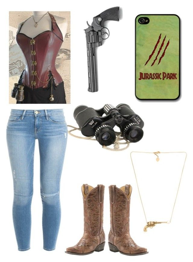 """""""Jurassic park"""" by tikeyla ❤ liked on Polyvore featuring Schield Collection and Frame Denim"""
