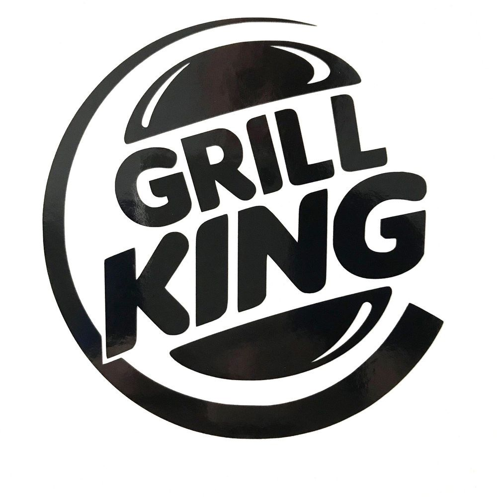 Grill king barbecue vinyl decal sticker choose your