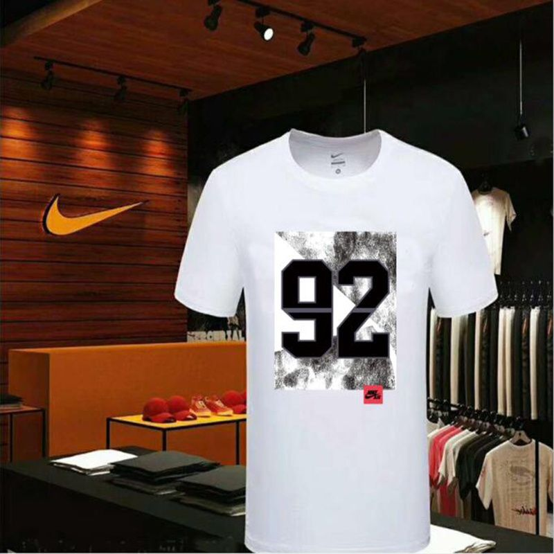 7d2f4d1eb208 Spring Summer 2018 Purchase Nike T-Shirt Logo 92 M-5XL 2018 Nike New Style  Clothing White