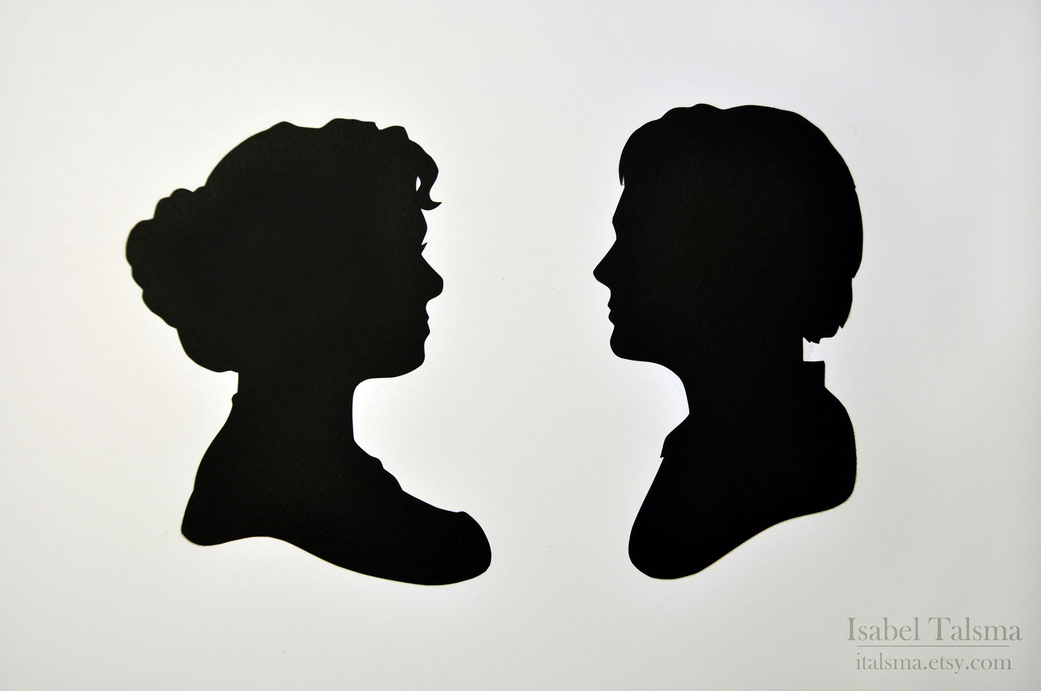 Jack and Rose (Titanic Silhouettes)