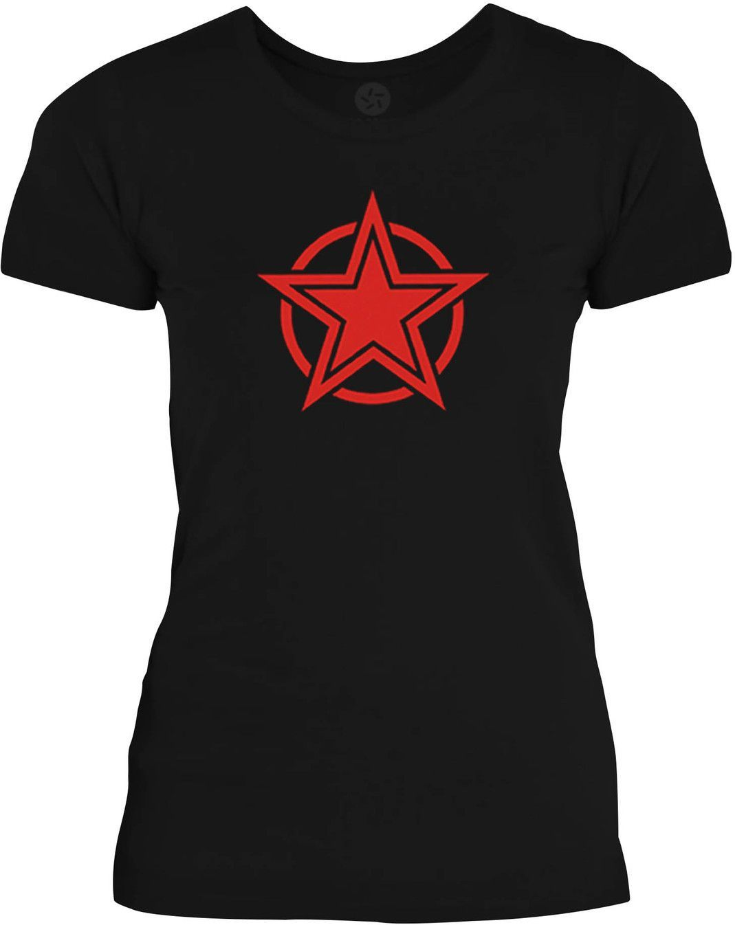 Big Texas Double Circle Star (Red) Womens Fine Jersey T-Shirt
