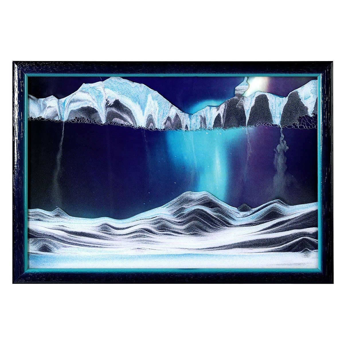 Aurora borealis sand art sand art sand pictures and cubicle