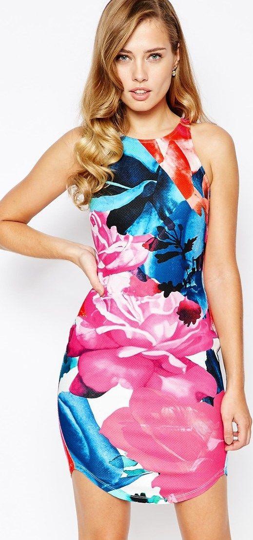 Vestido ajustado de flores de ASOS Ginger Fizz. ¡Precioso!