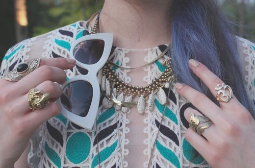 Festival style jewelry we're loving via WeHeartIt