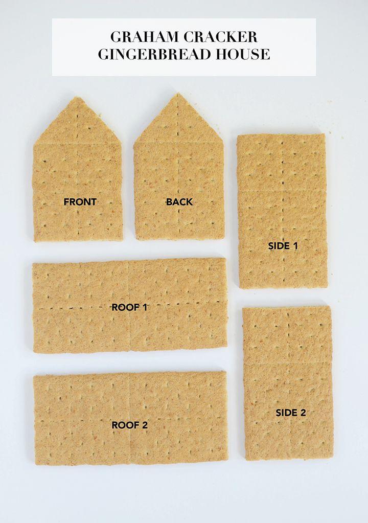 graham cracker gingerbread house template  DIY Graham Cracker Gingerbread Houses | Graham cracker ...