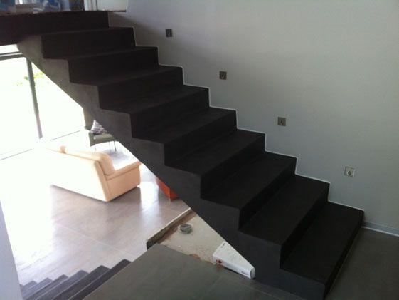 Escalier Beton Cire Parts Of A House En 2019 Escalier