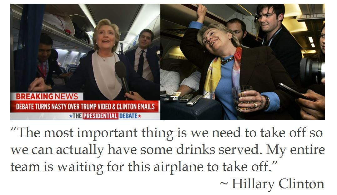 Hilllary Clinton on Drinking after the Second Presidential Debate