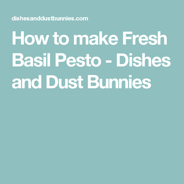How to make Fresh Basil Pesto - Dishes and Dust Bunnies