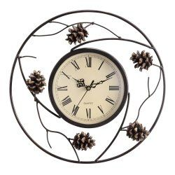 New at the Aardvark, this Pinecone Wall Clock works well in your ...
