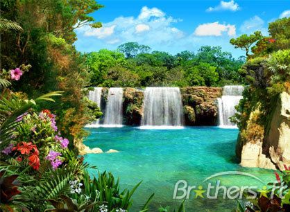 free living waterfall wallpaper