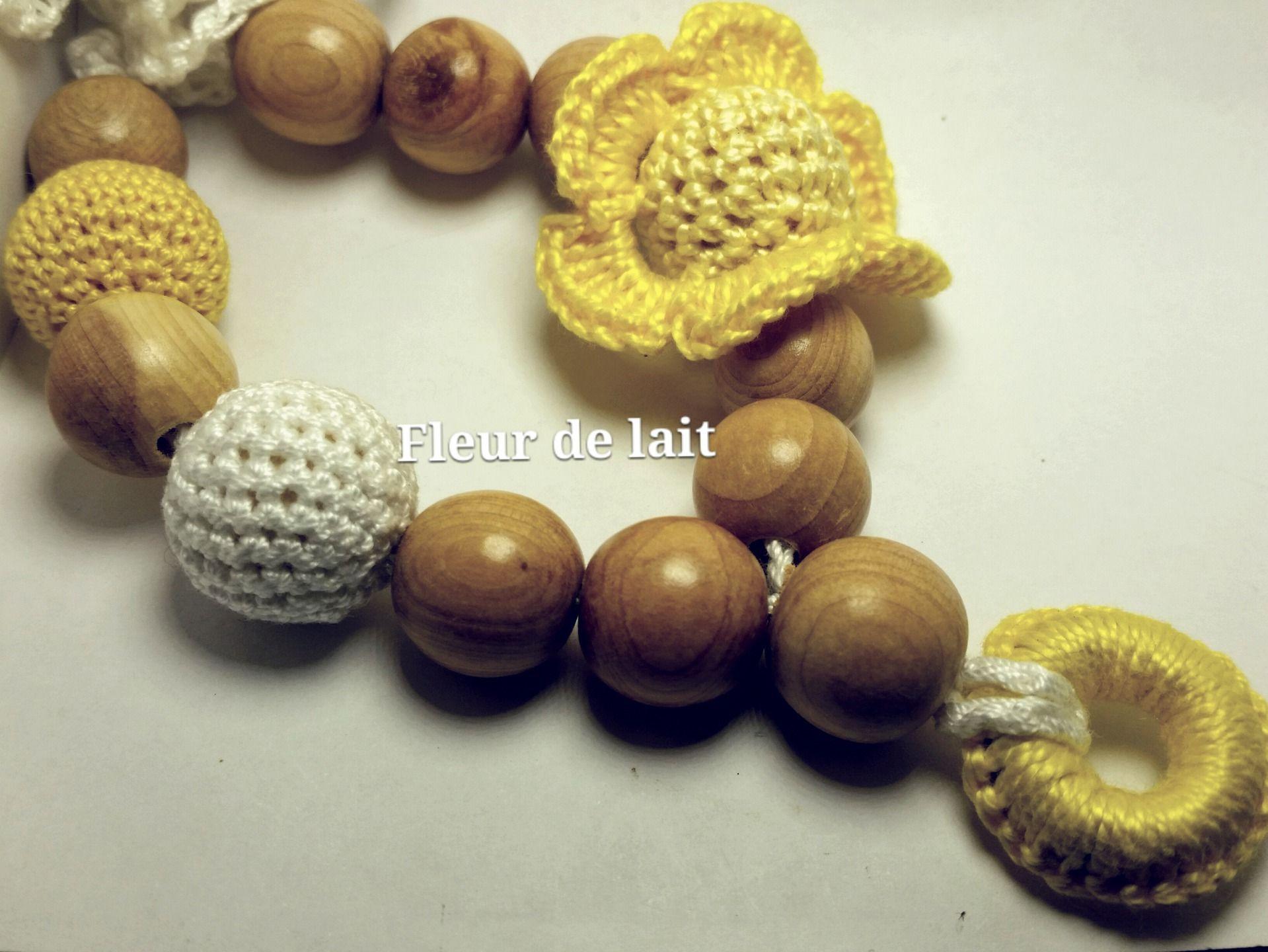Collier D Allaitement Fleur De Lait Jaune Citron Puericulture Par