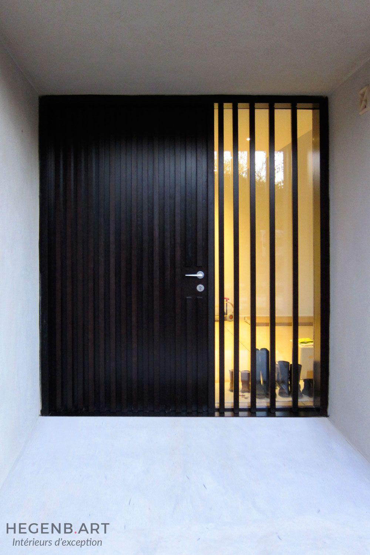 Porte Dentrée Sur Mesure En Bois Massif Porte Au Design Moderne Et - Porte d entrée sur mesure
