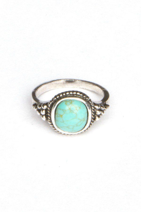 turquoise lyst jewelry stone product stacked kors in rings metallic michael gold