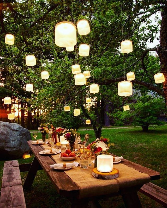The only thing missing is the turkey. How do you do thanksgiving? #LightUpLife _____  #homedecor #homedecorideas #instadecor #falldecor #falldecorating #homemaking #outdoordecor #homeinspiration #eclecticallyfall #inspireuswithfall #rustictable #backyarddesign #outdoorspace #homestyle #solar #lucilights #exteriordesign #rustic #exteriordecor #outdoordesign #thanksgiving #diy #diyideas #fallinspiration #autumndecor #happythanksgiving #optoutside