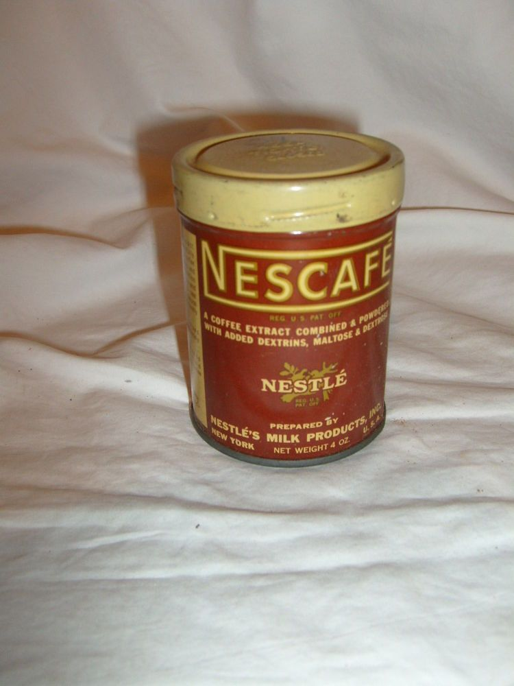 Handcrafted Metal Tin Nescafe Coffee DOLLS HOUSE