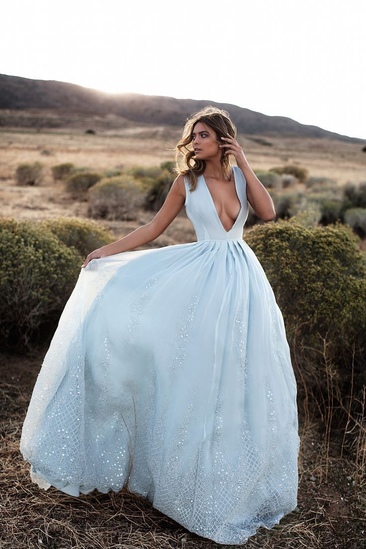 Dusty blue wedding dress  LURELLY BRIDAL EDITORIAL u Lurelly  Dusty French Blue Wedding