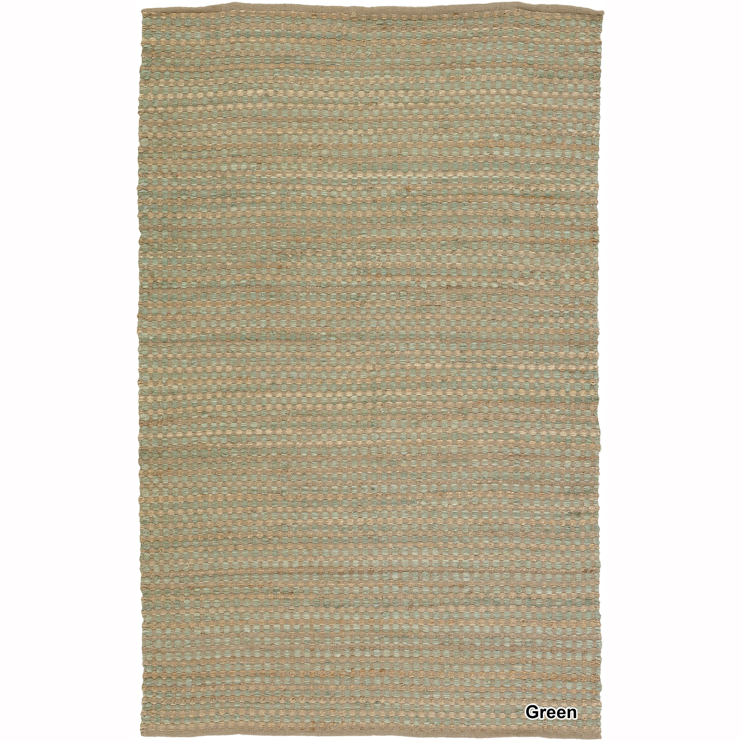 Artist S Loom Flatweave Contemporary Solid Pattern Cotton Jute Rug 7 9 X10 6 7 9 X 10 6 Area Rugs Rugs Colorful Rugs
