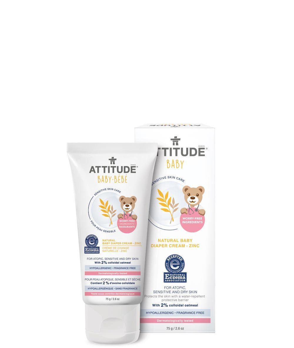 Attitude Baby Natural Baby Diaper Cream Zinc Skin Deep