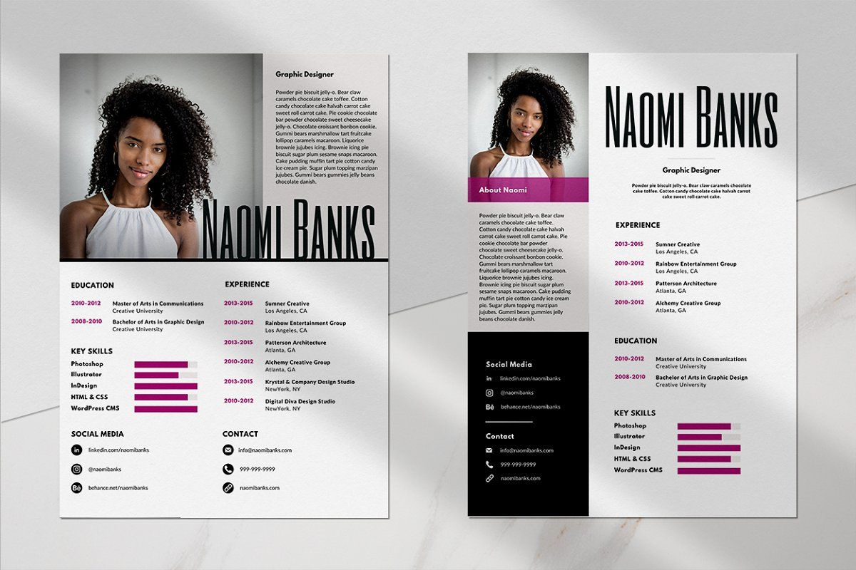Canva Resume Template Pack in 2020 Resume template, One