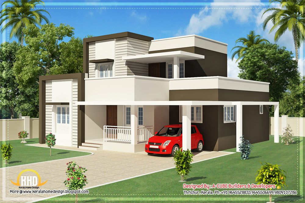 Interior Plan Houses | ... Modern 1460 Sq. Feet House Design   Kerala Home  Design And Floor Plans | Inside Building Structures | Pinterest | Modern,  ...