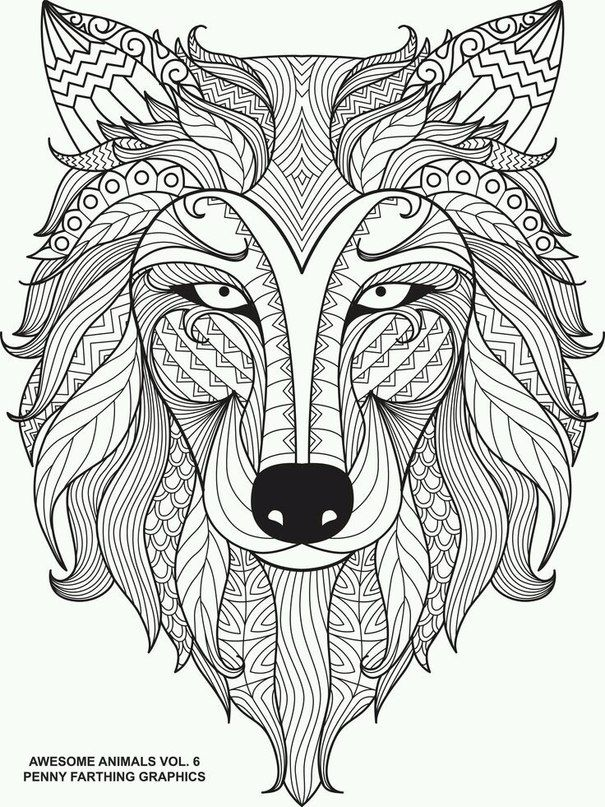 Zentangle | mandalas animales | Pinterest | Adult coloring pages ...