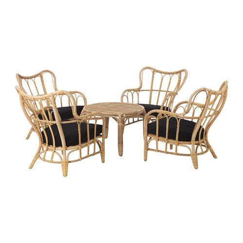 Set Giardino Rattan Ikea.Mastholmen 4 Seat Conversation Set Outdoor Rattan Ikea Products