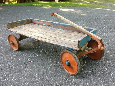Antique Toy Wood Wagon Old Wooden I Played With One Of These