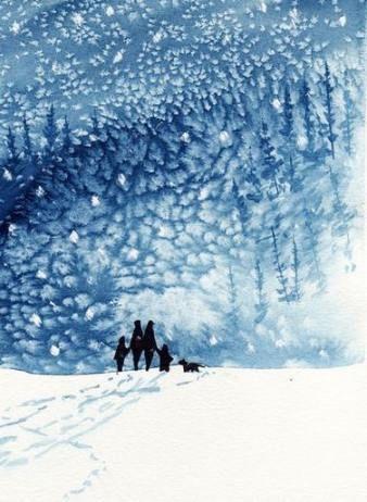 Trendy snow landscape illustration 66+ ideas #landscape #wasserfarbenkunst